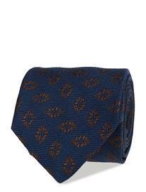 Eton Blue Medallion Silk & Wool Tie BLUE