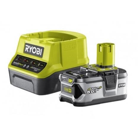 Ryobi ONE+ RC18120-150 (5133003366) 18V 5,0Ah Li-ion, työksluakku ja laturi