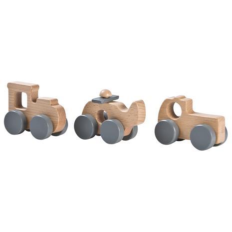 Wood Giftset Cars Grey