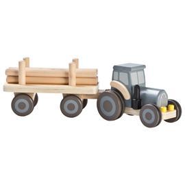 Wood farm truck grey