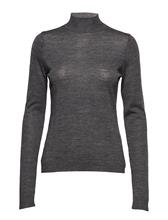 Minus Rose Knit Roll Neck DARK GREY MELANGE