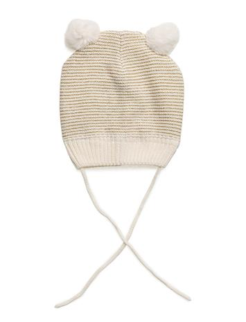 Polarn O. Pyret Cap Knitted Solid Baby EGRET