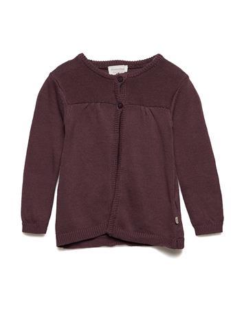 Minymo Knit Cardigan BLACK PLUM
