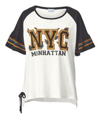 Trumpettihihainen paita Angel of Style musta/valkoinen68312/40X