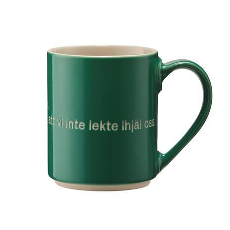 Design House Stockholm Astrid Lindgren muki, me leikimme ja leikimme grön-svenska