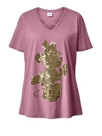 Paljettisomisteinen paita Angel of Style vanharoosa50402/30X
