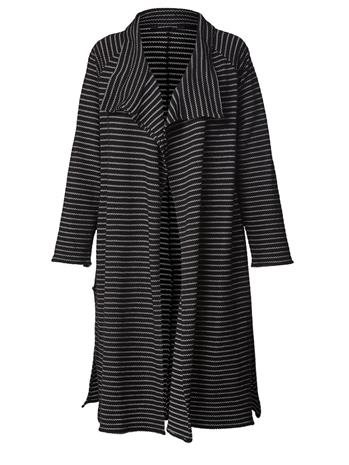 Raidallinen takki Sara Lindholm musta/valkoinen95983/90X