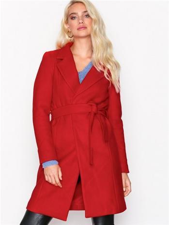 Only onlRACHEL Wool Coat Cc Otw Takit Punainen