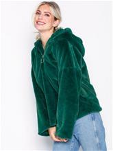 Glamorous Zip Hooded Jacket Tekoturkit Green