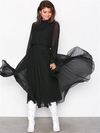 Polo Ralph Lauren Long Sleeve Casual Dress Maksimekot Black