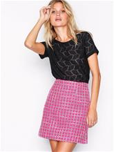 Glamorous Check A-line Skirt Minihameet Hot Pink