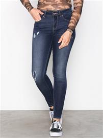 Only onlCARMEN Reg Sk Dnm Jeans CRYA022 Skinny Tummansininen