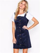 Glamorous Button Down Pinafore Dress Skater-mekot Navy
