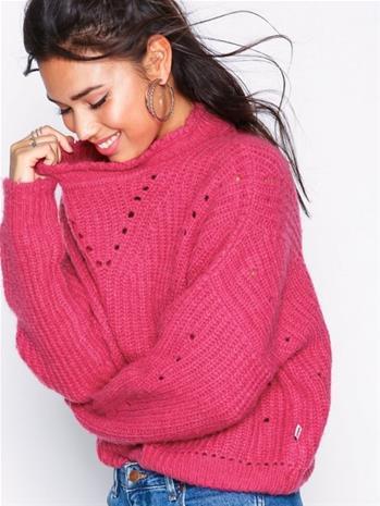 Wrangler Crop Knit Neuleet Bright Rose