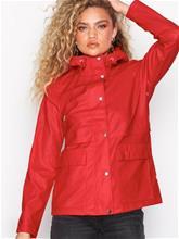 Only onlTRAIN Short Raincoat Otw Noos Parkatakit Punainen