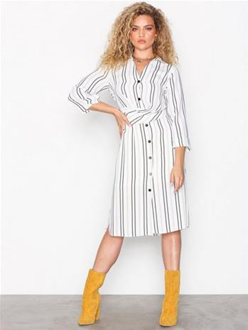 River Island LS Waisted Shirt Dress Väljät mekot Ivory
