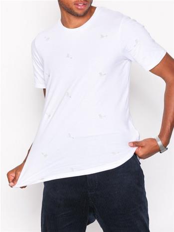 Premium by Jack & Jones Jprisak Tee Ss Crew Neck T-paidat ja topit Valkoinen