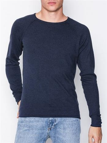 Solid Stamos Knit Puserot Navy