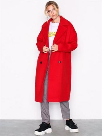 Vero Moda Vmmonday Cala Long Jacket Ki Pitkät takit Tummanpunainen