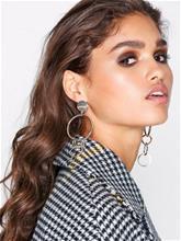 NLY Accessories Link Drop Earrings Korvakorut Kulta