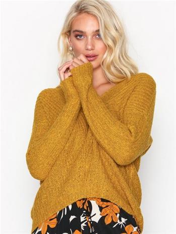 Jacqueline de Yong Jdymegan L/S Pullover Knt Noos Neuleet Mörkorange