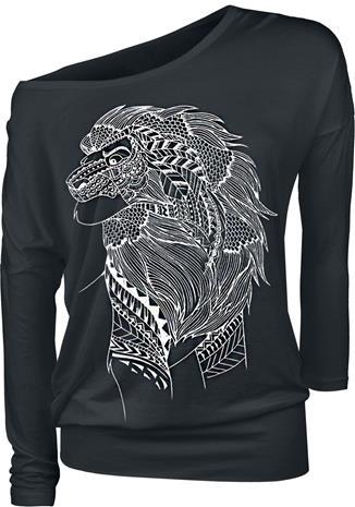 Leijonakuningas Simba - Lion Ink Naisten pitkähihainen paita musta