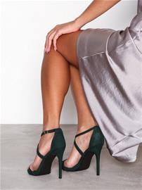 New Look Suedette Strappy Stiletto Heel Sandals High Heel Dark Green