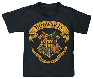 Harry Potter Hogwarts Crest Lasten paita musta