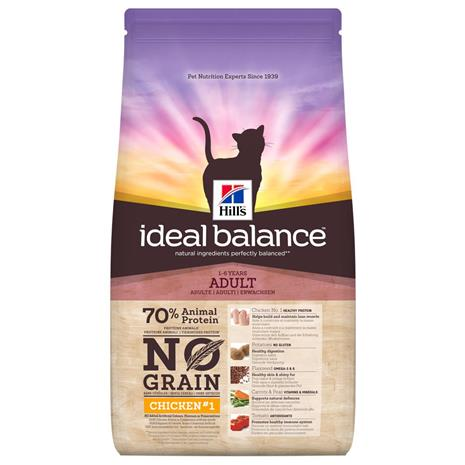 Hill's Ideal Balance Adult No Grain -kissanruoka kana & peruna - 3 x 1,5 kg