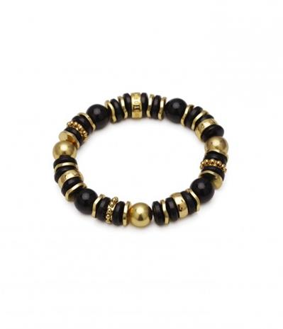 Bud to Rose Armband Cornelia svart/guld