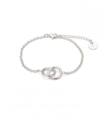 Bud to Rose Armband Hitch silver