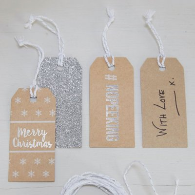 Presentetiketter Christmas Metallics
