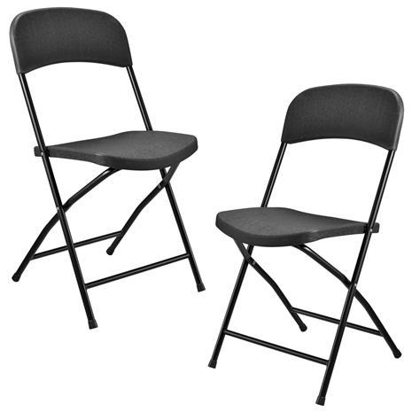 Camping tuoli - 2 kpl - 47cm x 39cm x 87cm - tummanharmaa