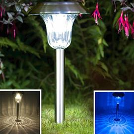 Solar Lights Outdoor Garden Pathway Color LED 2 pack