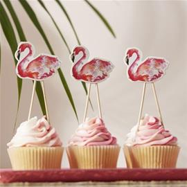 Cake Picks - Flamingo Fun