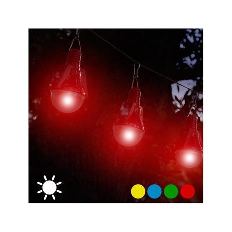 Solcellsglödlampa (4-pack), Blå