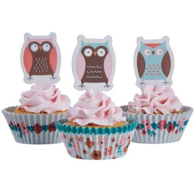 Muffinskit - Ugglor - Cupcake Kit