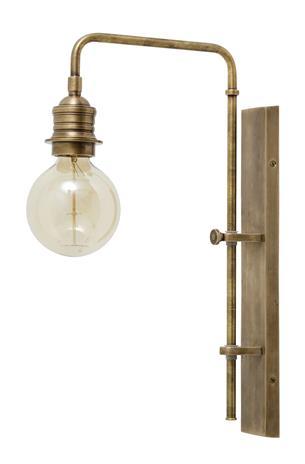 Wall lamp for deco bulb brass - large, Koristeet