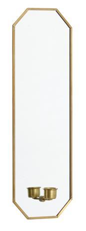 Spegel med ljusstake 38x13 cm - Guld, Koristeet