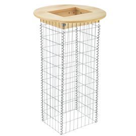 [pro.tec]® Kivikoripöytä - 115 x 43,2 x 33,6 x Ø 70 cm