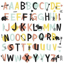RoomMates, Tribal Alphabet Peel & Stick