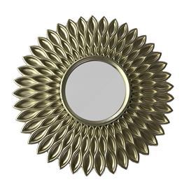 Spegel mönstrad mässing D24 cm