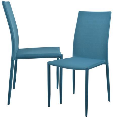 Pehmustettu tuoli - 2 kpl / setti - 90 x 42.5 cm - turkoosi