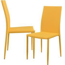 Pehmustettu tuoli - 2 kpl / setti - 90 x 42.5 cm - sinapinkeltainen