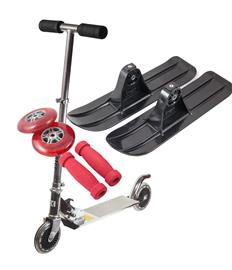 Kickboard / kickbike med rött stylingpaket