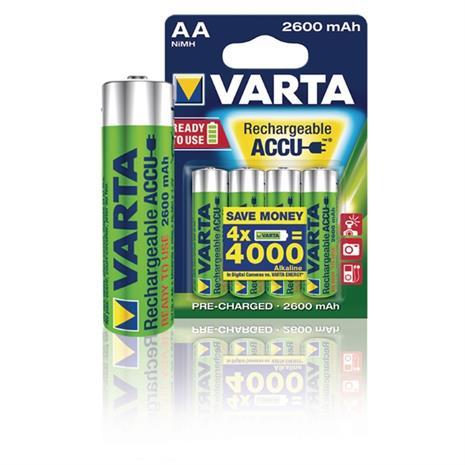 Ladattava akku R6 (AA) NiMH Varta Ready2Use HR06 2600 mAh 1.2 V 4 kpl, SkateboardsAndAccessories