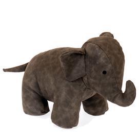 Elefant Skinnimmitation grå dörrstopp 25cm
