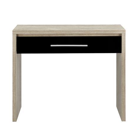 [en.casa]® Elegantti kirjoituspöytä laatikolla - musta