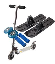 Kickboard / kickbike med blått stylingpaket