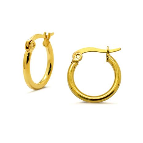 Absolut4u 15mm Gold Surgeon Steel Round Earrings